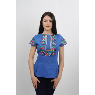 "Embroidered blouse ""Blue Pearl"""