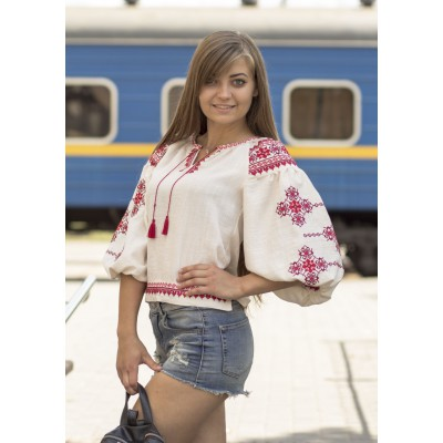 "Embroidered blouse ""City Flower"""