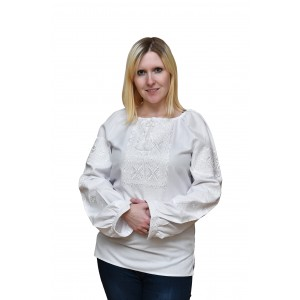 "Embroidered blouse ""White Desire"""