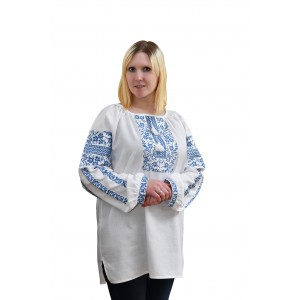 "Embroidered blouse ""Blue Moon Flowers"""