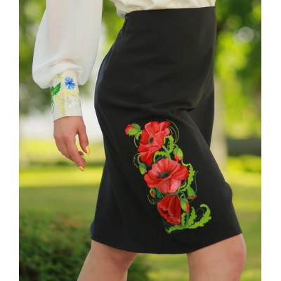 "Embroidered Skirt ""Poppy Classic"""