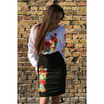 "Embroidered Skirt ""Ukrainian Bouquet"""