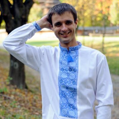"""Embroidered shirt """"Decent Blue"""""""
