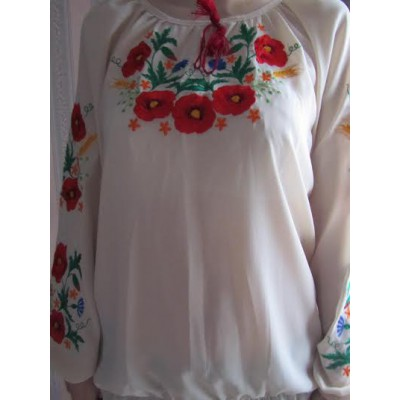"Embroidered  blouse ""Poppy Luxury"""
