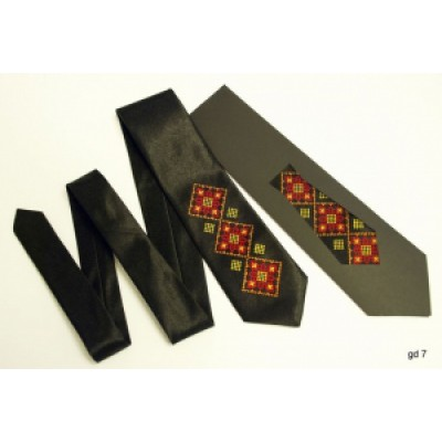 "Embroidered tie for a boy ""Brown Long"""