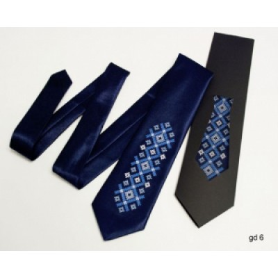 "Embroidered tie for a boy ""Blue Long"""