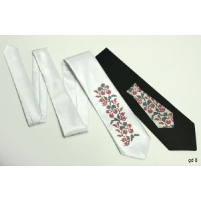 "Embroidered tie for a boy ""White Long"""