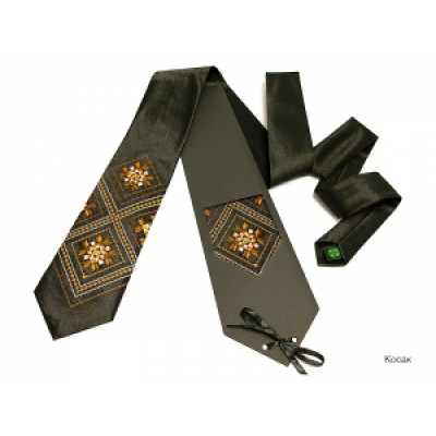 "Embroidered tie for men ""Cossac"""