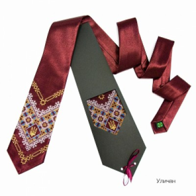 "Embroidered tie for men ""Chervyn"""