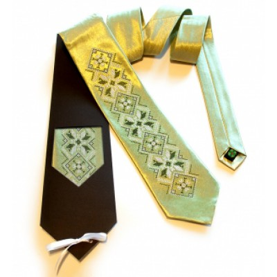 "Embroidered tie for men ""Embroidered Golden"""
