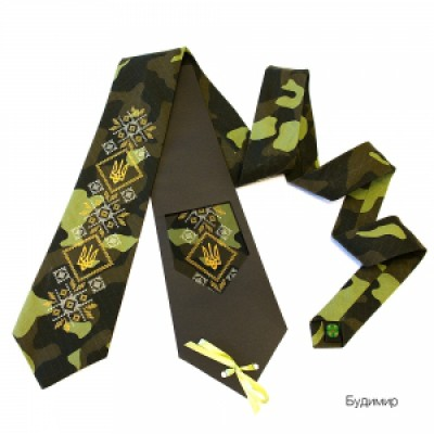 "Embroidered tie for men ""Budymyr"""