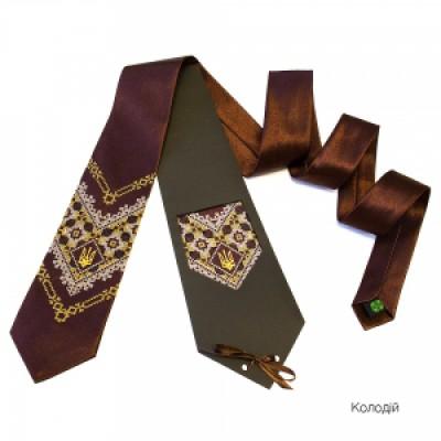 "Embroidered tie for men ""Kolodiy"""