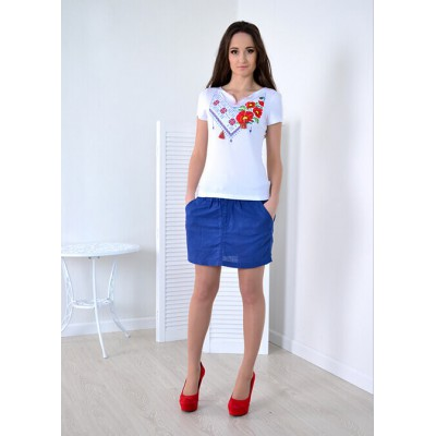 "Embroidered t-shirt ""Embroidered Mix"" white"