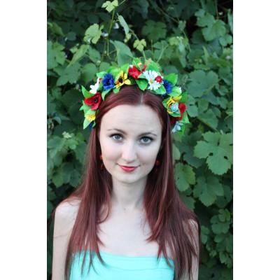 """Ukrainian Wreath """"Double Flowers"""""""
