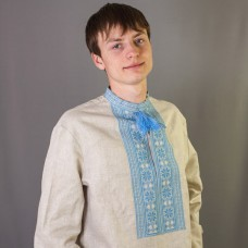 """Embroidered shirt """"Blue Ornament"""""""