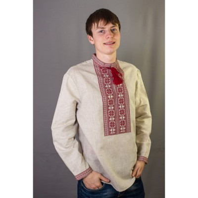 """Embroidered shirt """"Red Ornament"""""""