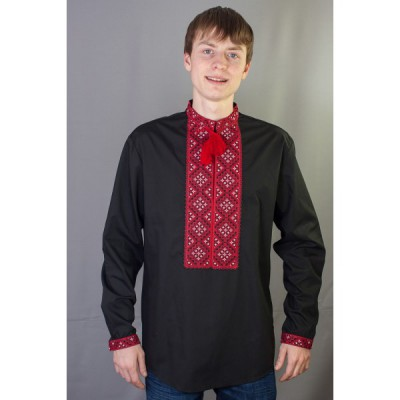 """Embroidered shirt """"Traditional Red Design"""""""