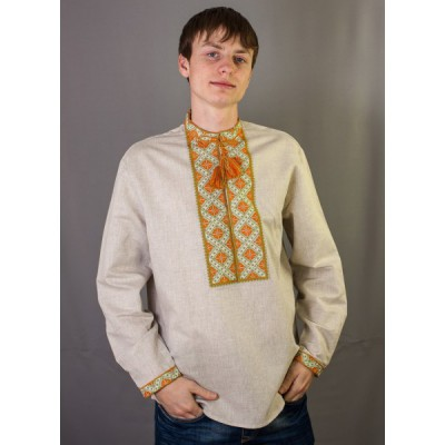"""Embroidered shirt """"Orange Embroidery"""""""