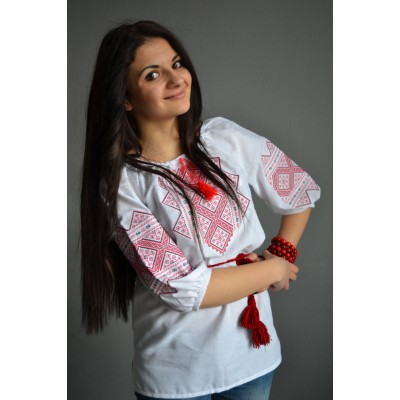 "Embroidered  blouse ""Petals of Tulip"""