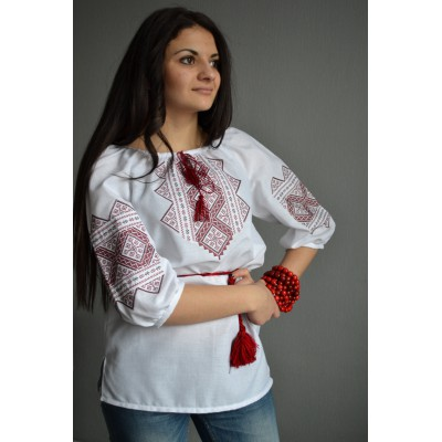 "Embroidered  blouse ""Petals of Rose"""