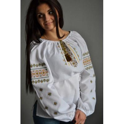 "Embroidered  blouse ""Awakening Nature"""