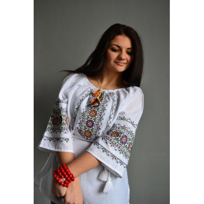 """Embroidered  blouse """"Spring Melody"""""""