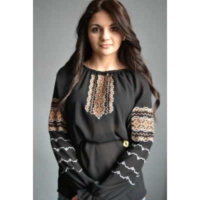 "Embroidered  blouse ""Lace Bronze"""