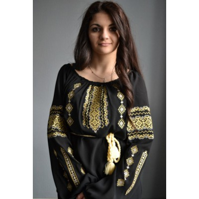 "Embroidered  blouse ""Lace Gold"""