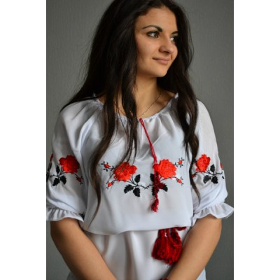 "Embroidered  blouse ""Passionate Roses"""