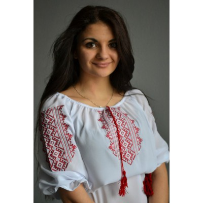 "Embroidered  blouse ""Traditional Red"""