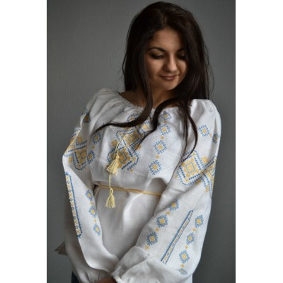 "Embroidered  blouse ""Ukrainian Beauty Patriotic"""