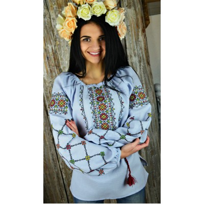 "Embroidered blouse ""Flowers of Glory Colourful"""