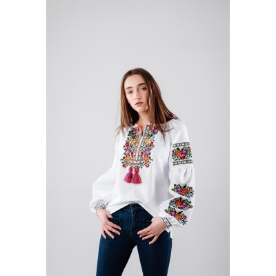"Embroidered Blouse ""Flower Breeze"""
