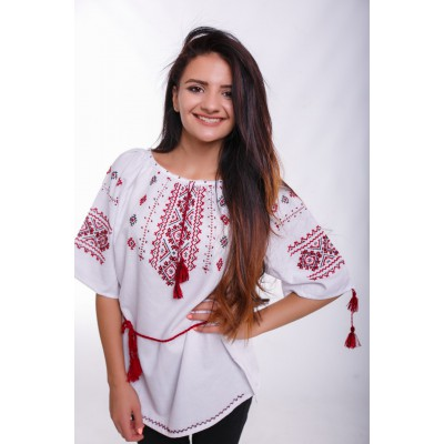"Embroidered Blouse ""Hutsulka"" handmade"
