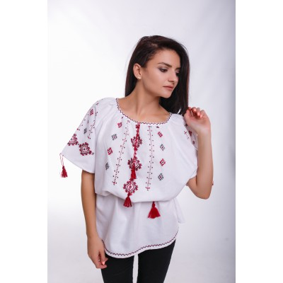 "Embroidered Blouse ""Beautiful Lady"" handmade"